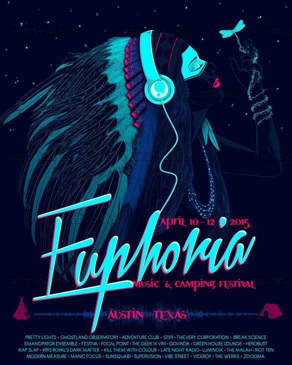 Euphoria Music & Camping Festival Poster by Seba Sebi