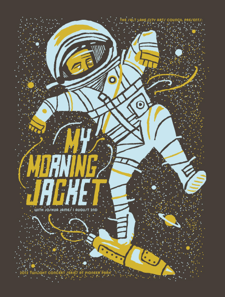 MY MORNING JACKET with Joshua James 2012 Twilight Concert Series Poster