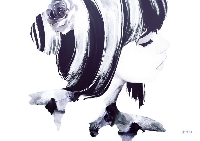 "Digital Art – ""I Feel You"". Digital Watercolor Artwork. Portrait Artworks. Ill ..."