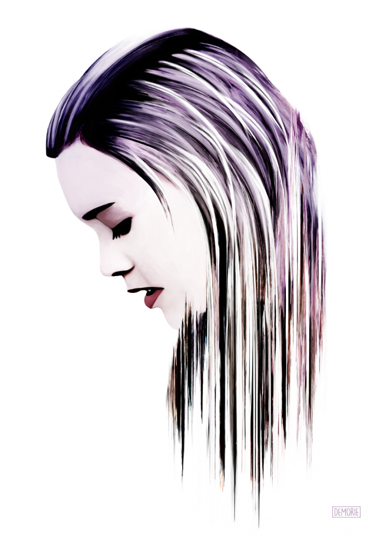"Digital Art – ""Inside Your Mind"". Digital Watercolor Artwork. Portrait Artwork ..."