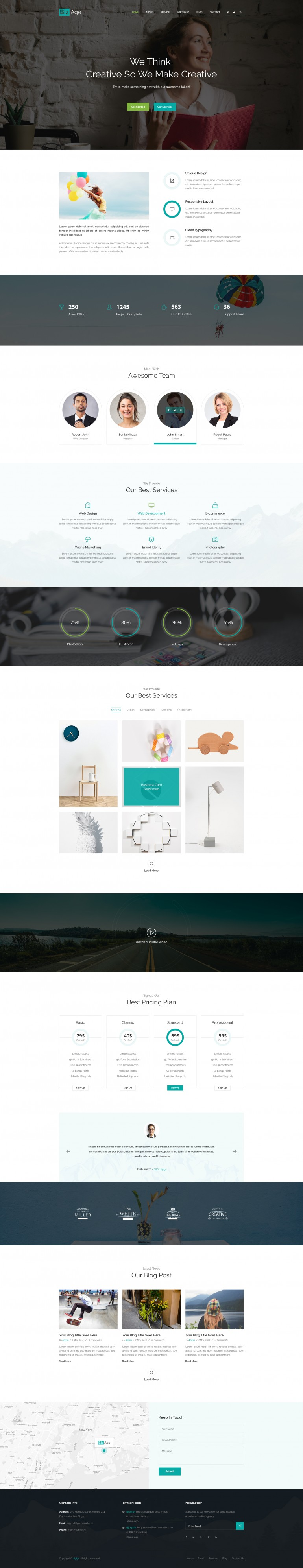 BizAge – One Page Template