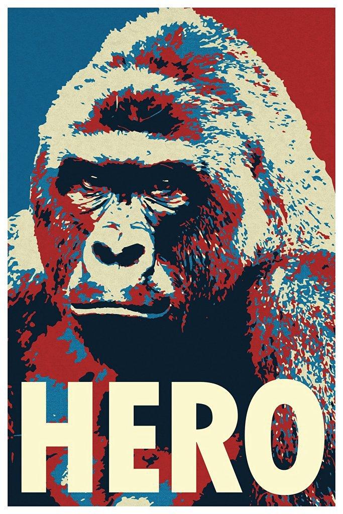 Harambe Pop Art Hero Funny Poster