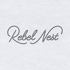 """Rebel Nest"" logotype by Jenna Bresnahan"