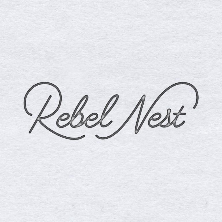 """Rebel Nest"" logotype by Jenna Bresnahan"