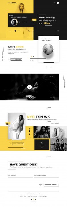 MDLNG – Modeling agency concept website