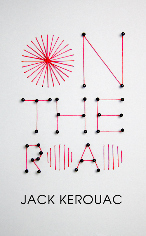 On The Road Cover Jack Kerouac Book by Mina Bach