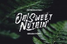 Oh!Sweet Nuthin – Handcrafted Font