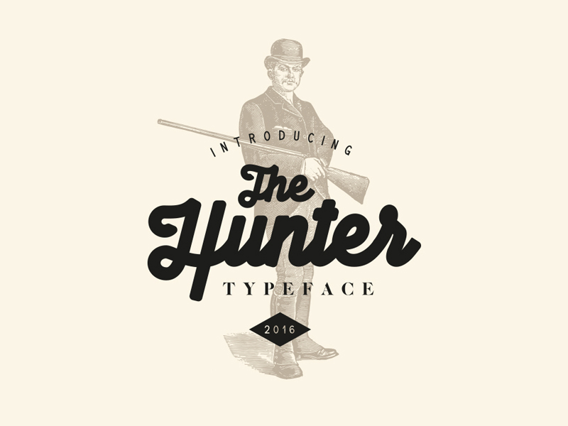 The Hunter Typeface