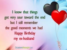 Happy Birthday Wishes for Ex-Husband