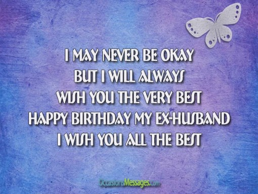 Happy Birthday Messages for Ex-Husband