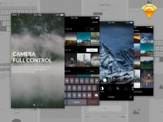 Anri – Photo Editing App UI (Sketch)