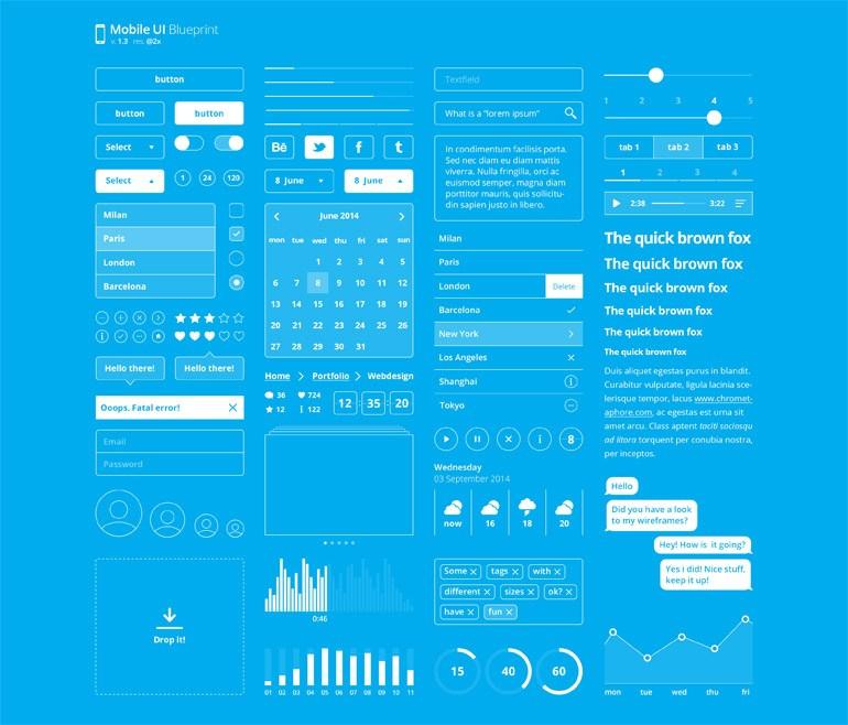 Blueprint Mobile UI Kit