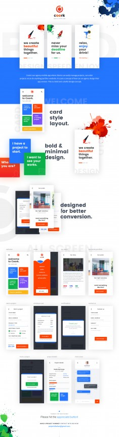 Coork – Agency Mobile App