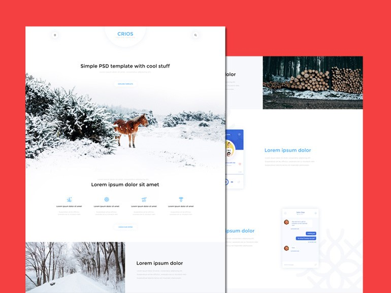Crios : Clean and Modern PSD Web Template
