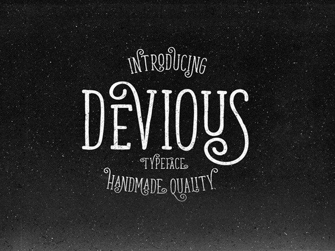 Devious Free Handmade Typeface