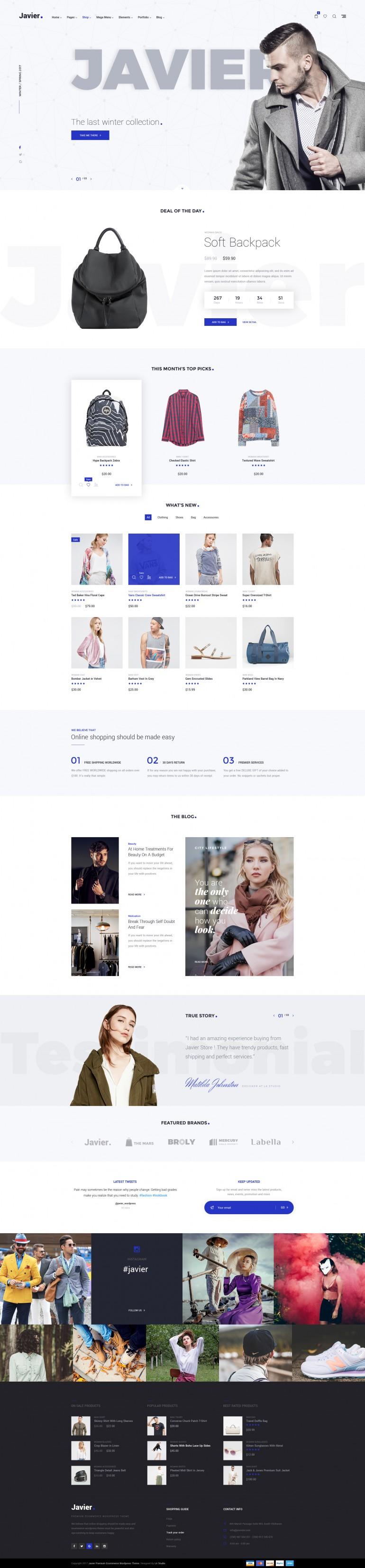 Javier – Modern E-Commerce