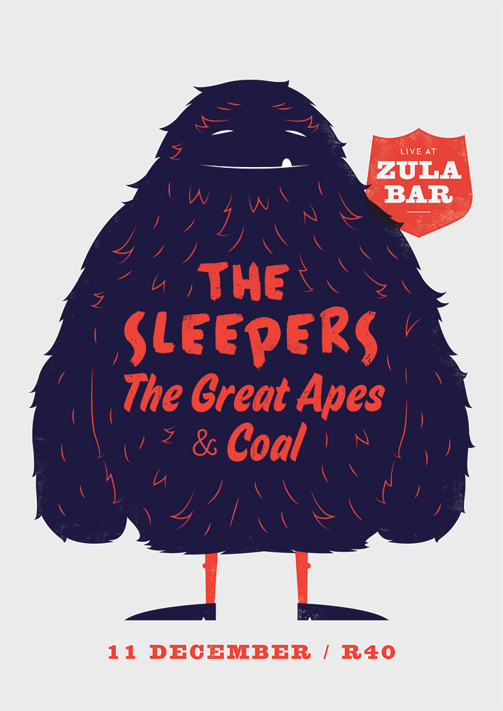 The Sleepers, The Great Apes & Coal – Furry Monster by Adam Hill