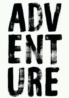 Adventure in bold brush font