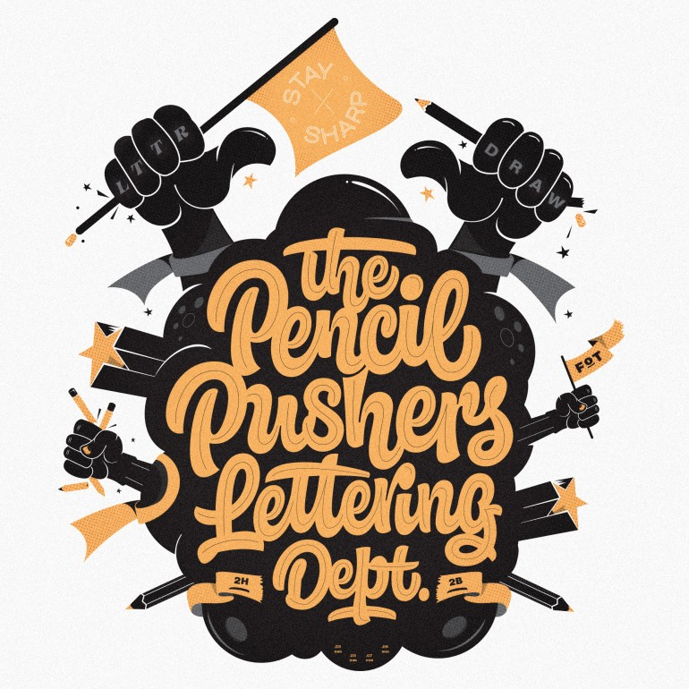 Pencil Pushers Lettering Dept