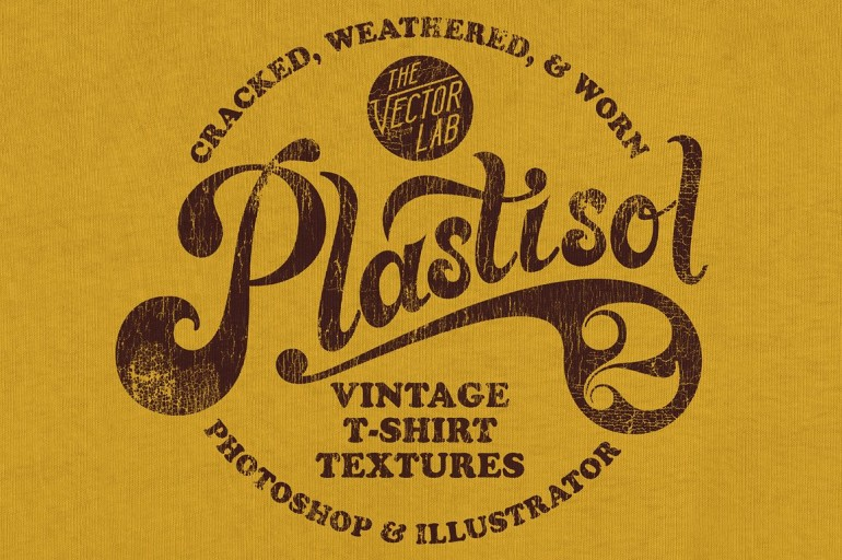 Plastisol 2 Vintage T-Shirt Textures on Inspirationde