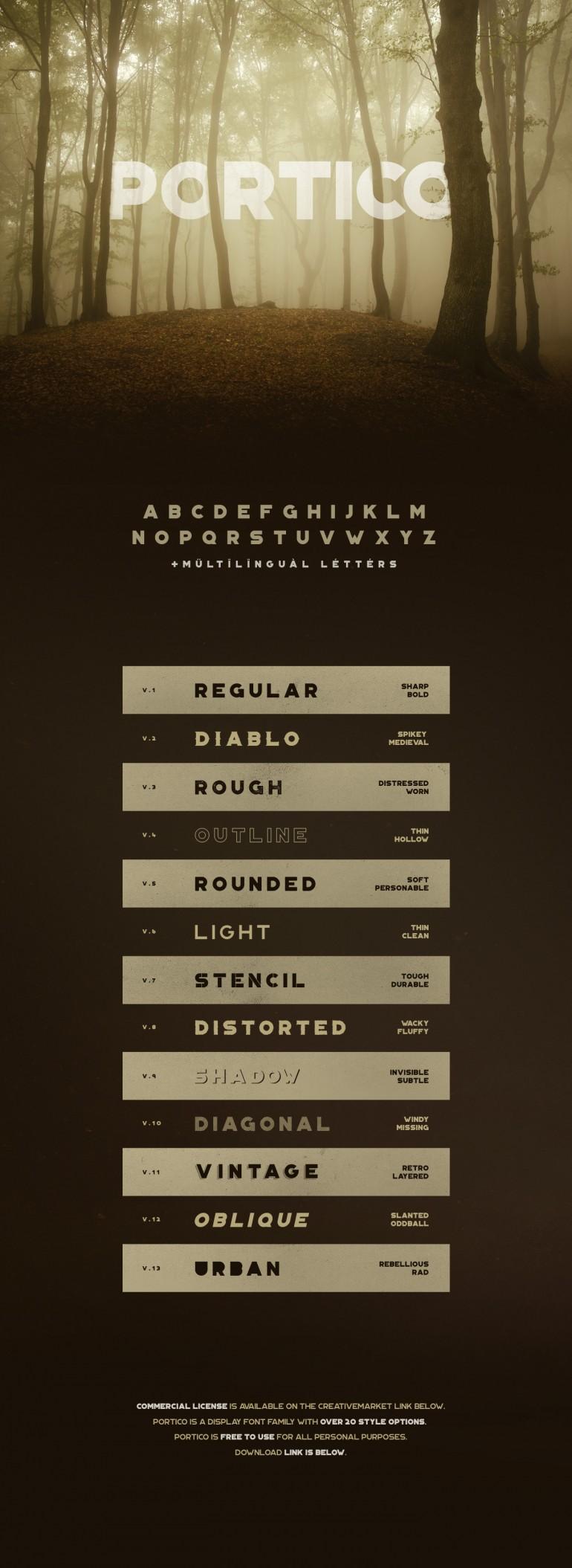 Portico Typeface