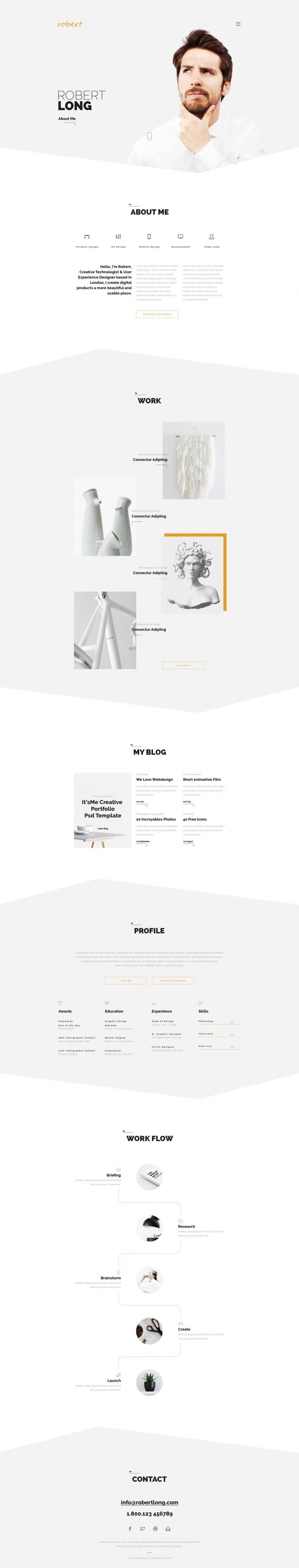 It's Me – Creative Personal Portfolio / Agency