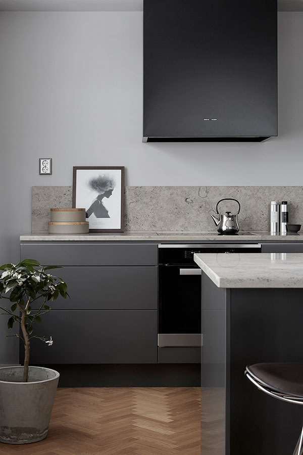 Oak, limestone and stainless steel in Premium's new concept apartment