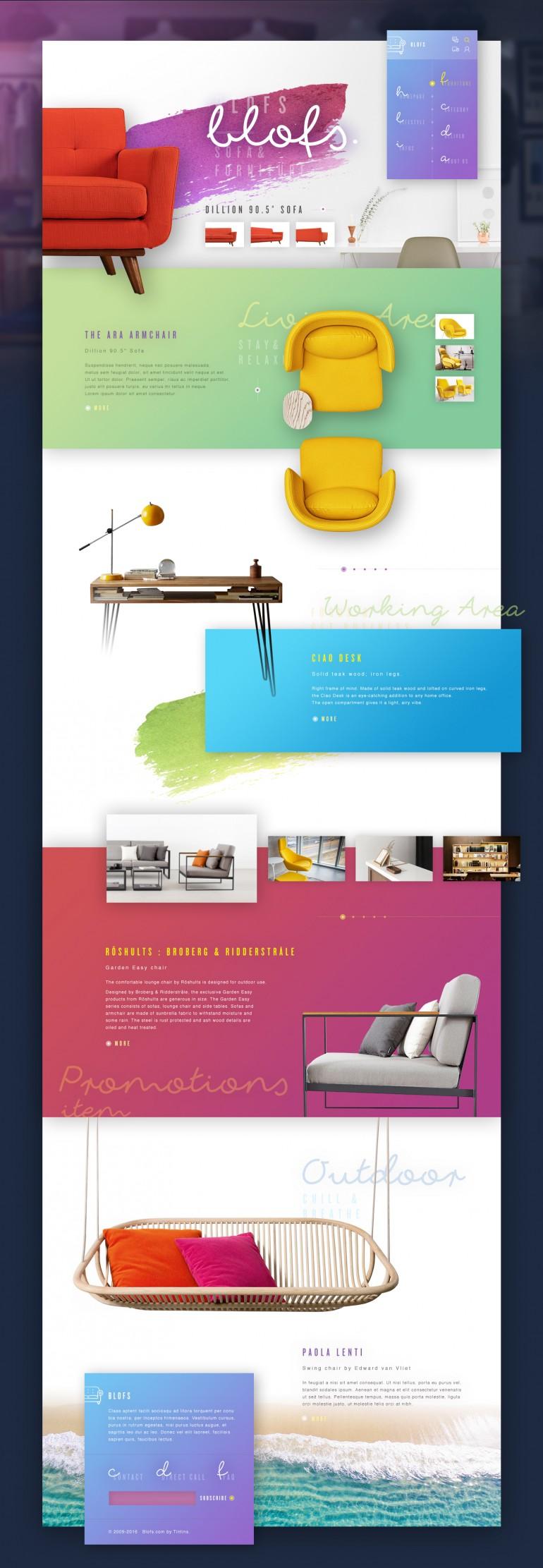 Blofs : Colorful decor