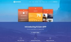 Premium landing pages to showcase app and web services