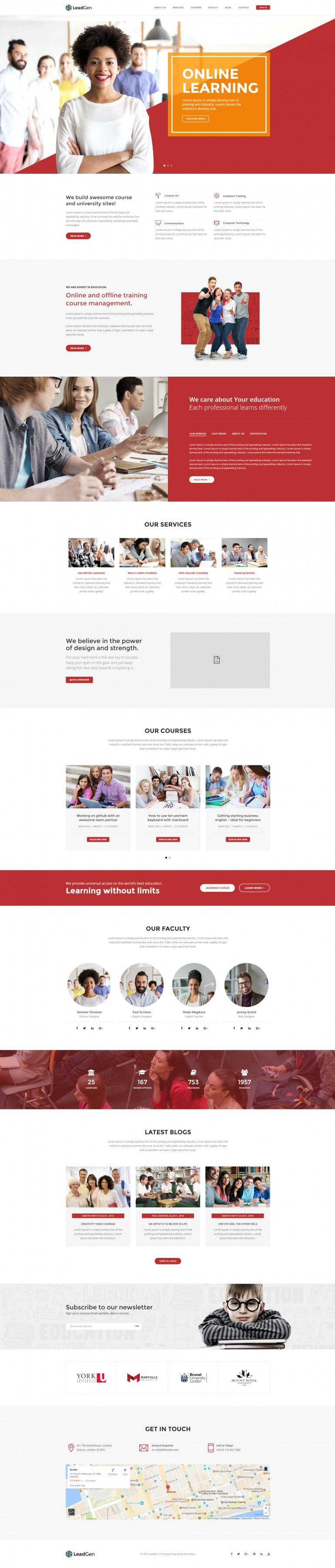 LeadGen – Multipurpose Marketing Landing Page – E-Learning