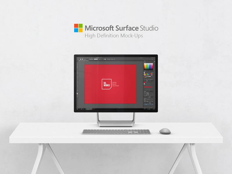 Microsoft Surface Studio Mockups