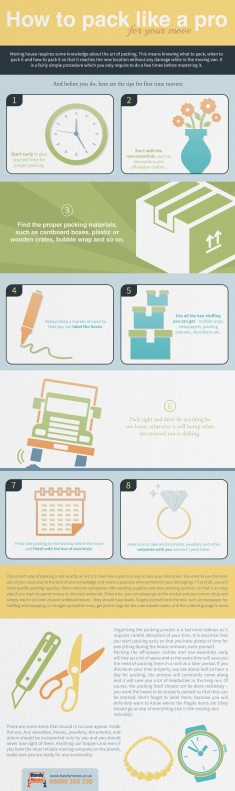 The professionals from Handy Moves share some useful tips how to pack easily for your house remo ...