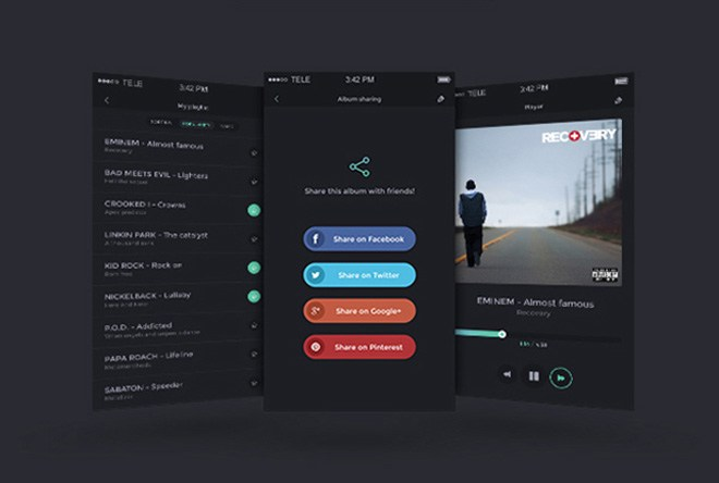MusicApp : Free Mobile UI Kit