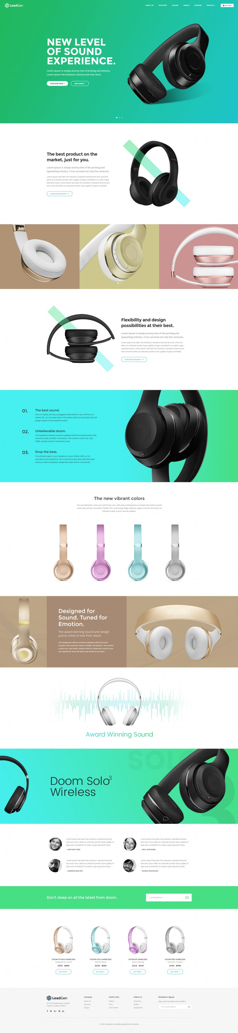 LeadGen – Multipurpose Marketing Landing Page – Product Showcase
