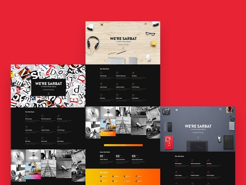 Sarbat : Free Colorful PSD Template