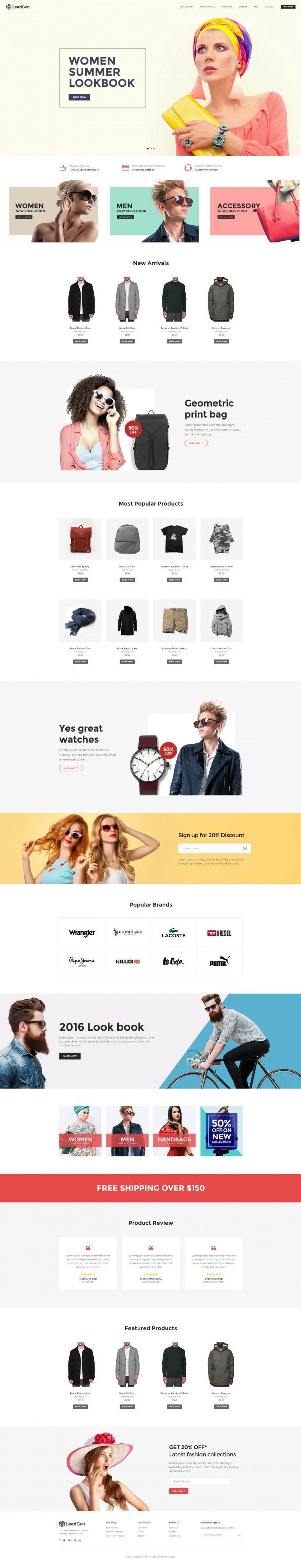 LeadGen – Multipurpose Marketing Landing Page – Online Shopping