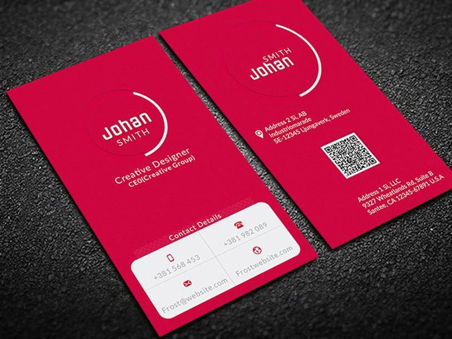 Free Single Color Business Card Template