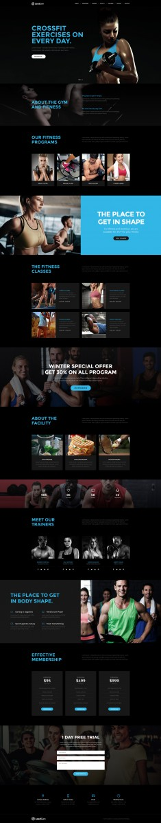 LeadGen – Multipurpose Marketing Landing Page – Sport and Gym