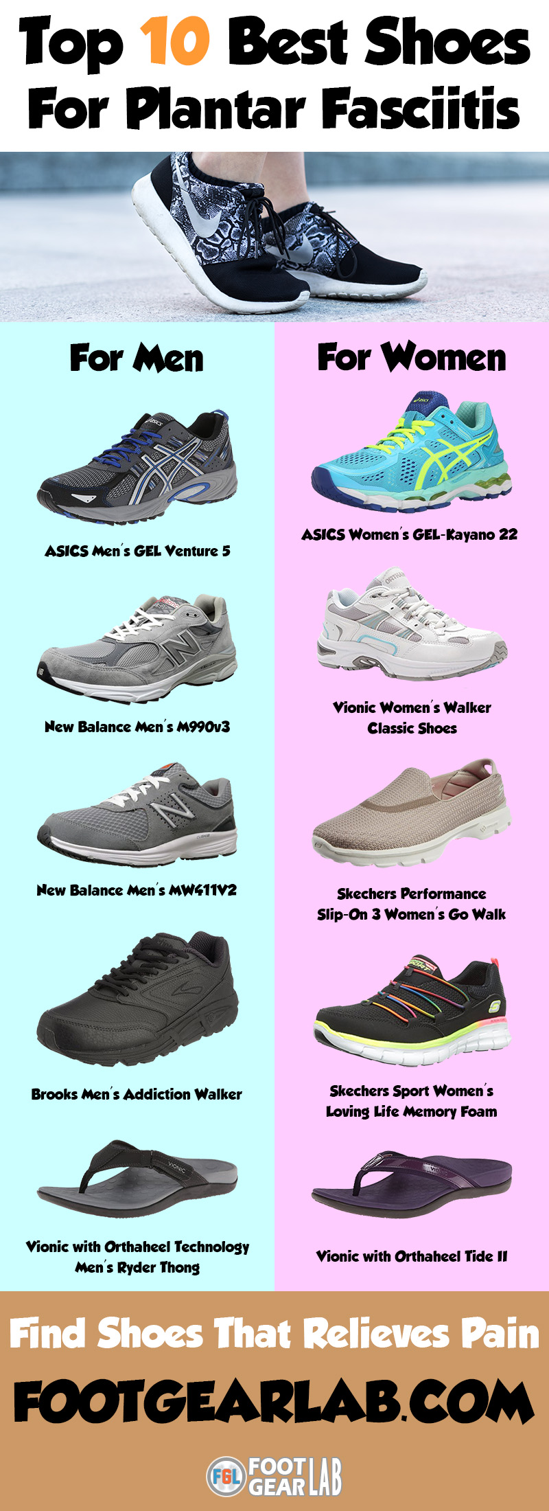 Top 10 Best Shoes For Plantar Fasciitis For Men And Women