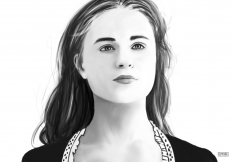 HBO Westworld – Dolores Sketch Digital Portrait Sketch
