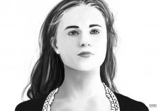 HBO Westworld – Dolores Sketch Digital Portrait Sketch