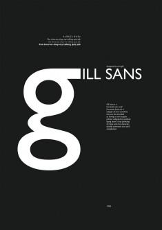 Gill Sans Specimen Sheet