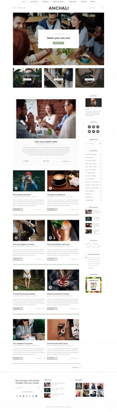 Paperio – Responsive and Multipurpose WordPress Blog Theme – Anchali