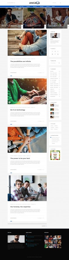 Paperio – Responsive and Multipurpose WordPress Blog Theme – Angela