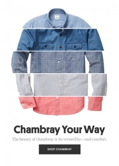 Bonobos: Ruggedly handsome? That's chambray