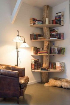 Tree Bookshelf in the Corner
