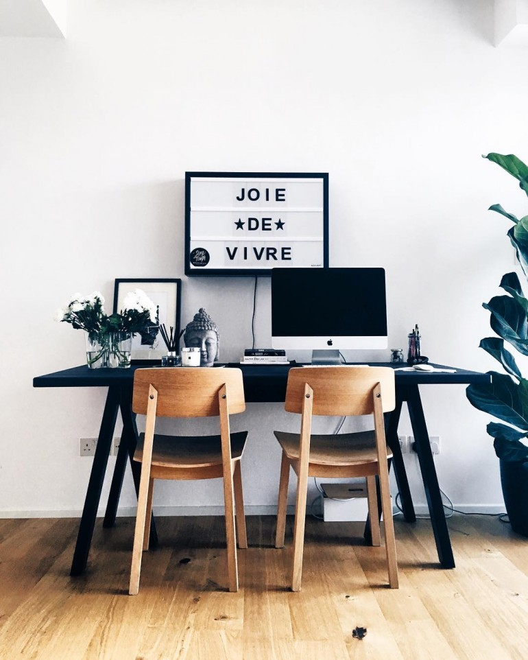 Monochrome Home office