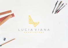 Projeto de identidade visual criado para empresa Lucia Viana | Arquitetura