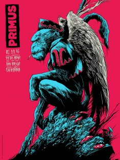 Primus Concert Posters by Ken Taylor