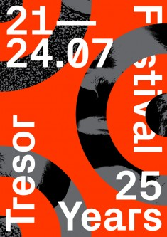 "TRESOR FESTIVAL Artwork for the ""25 years Tresor"" music festival"